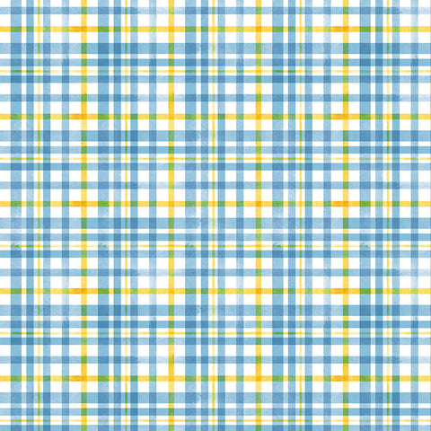 QUEEN BEE - BEEHIVE PLAID - DC9154-BLUE
