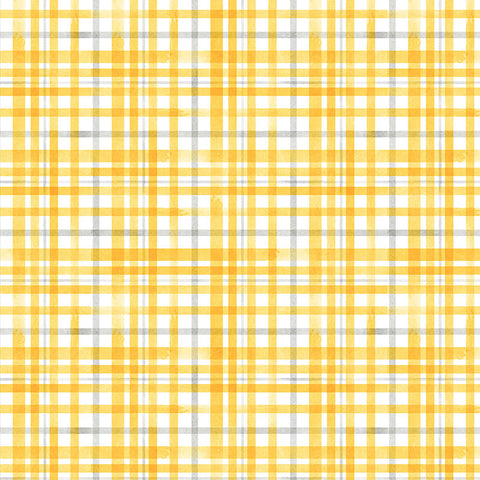QUEEN BEE - BEEHIVE PLAID - DC9154-YELLOW