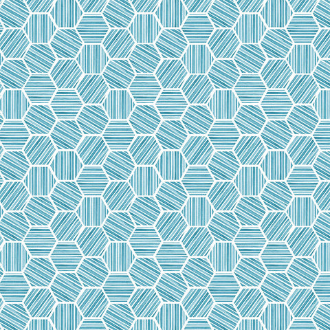 QUEEN BEE - HEXAGONS - DC9157-BLUE