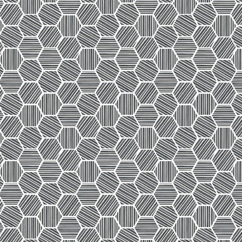 QUEEN BEE - HEXAGONS - DC9157-CHARCOAL