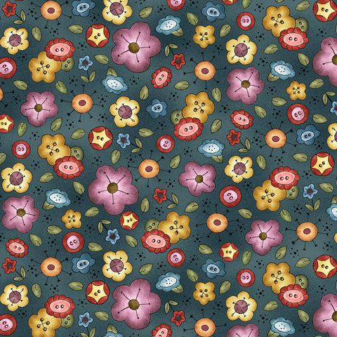 BORN TO SEW - BACKGROUND BOUQUET DC9429-TEAL