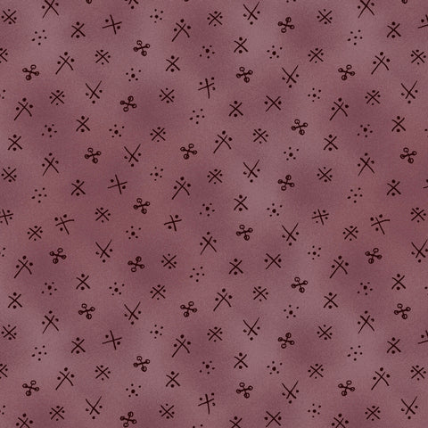 BORN TO SEW - X MARKS THE DOT - PLUM