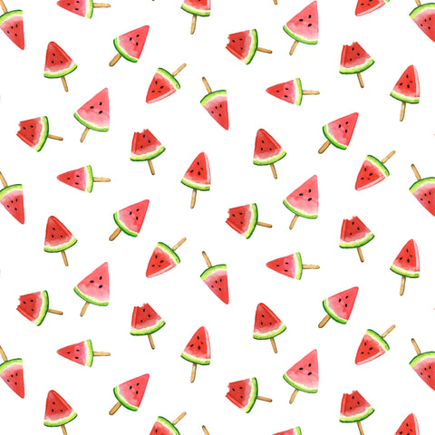 PICNIC BY THE LAKE -WATERMELON LOLLIES DC9839-WHITE