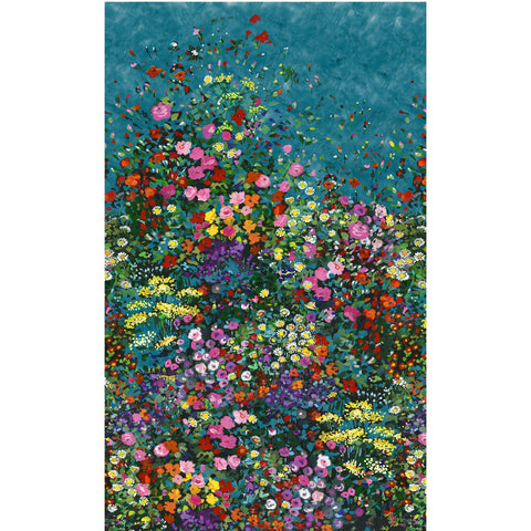 EAT SLEEP GARDEN - BOWERS OF FLOWERS - DCX9059-TEAL