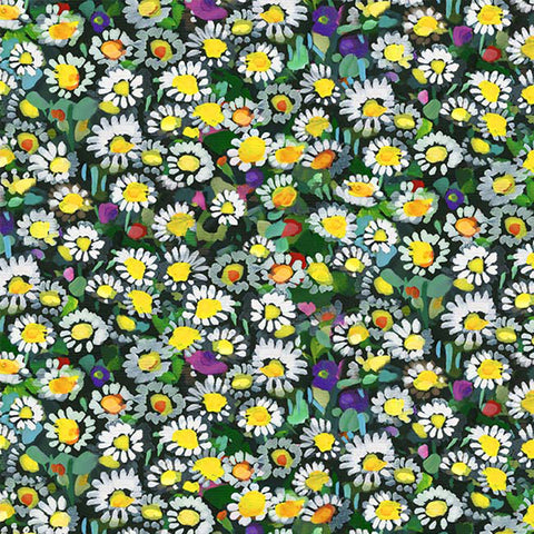 EAT SLEEP GARDEN - LAWN DAISIES - DCX9064-YELLOW