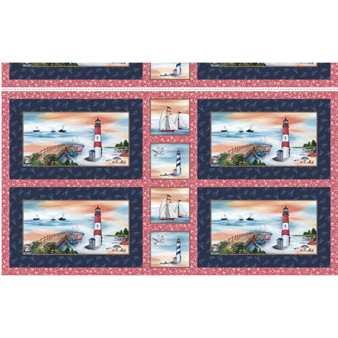 BY THE SEA - LIGHTHOUSE PLACEMATS - DCX9106-NAVY