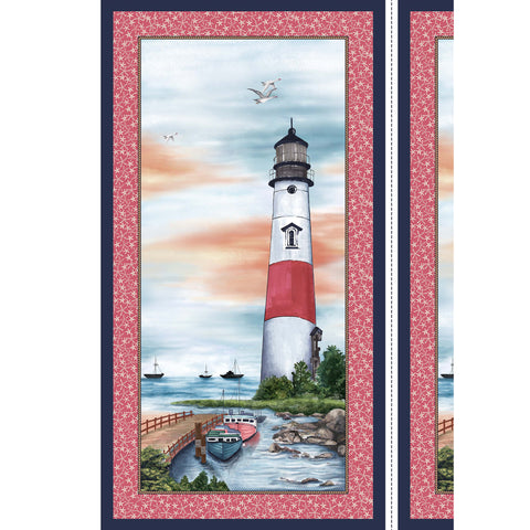 BY THE SEA - LIGHTHOUSE PANEL - DCX9112-SHELL