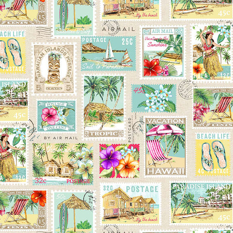 LOST IN PARADISE - TROPICAL GETAWAY - DCX9117-CREAM