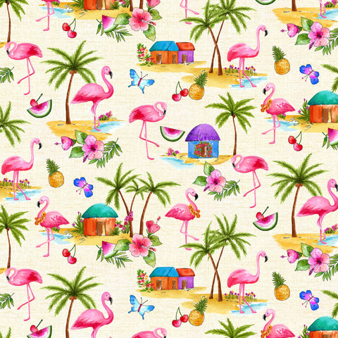 GREETINGS FROM…PINK FLAMINGOS-BEIGE DCX9745-BEIGE