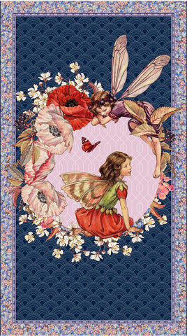 ELDERBERRY - DDC8061 - ELDERBERRY FLOWER FAIRIES PANEL - MULTI
