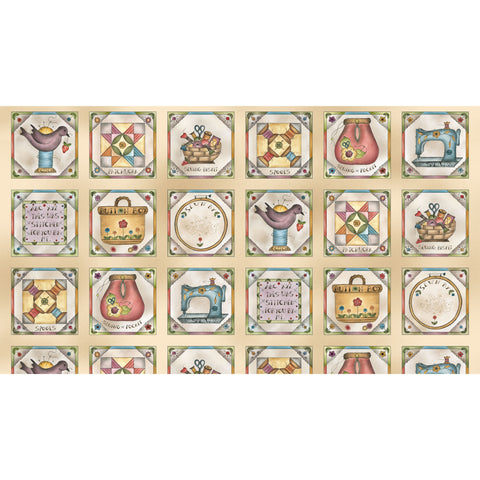 BORN TO SEW - STITCHER'S PATCHWORK-DDC9428 MULTI