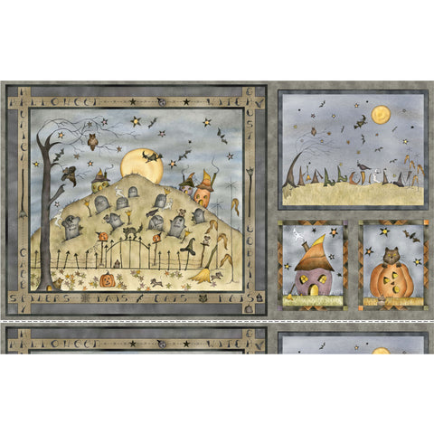 HALLOWEEN ON BROOM ST HAUNTED NIGHT SWEEP TIGHT DDC9684-MULTI