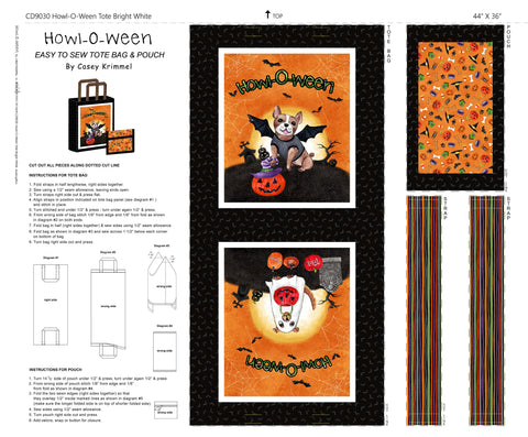 HOWL-O-WEEN - TOTE ON COTTON DUCK - DDD9030-BRIGHT WHITE