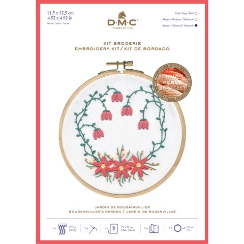 TB153 DMC BOUGAINVILLIER'S EMBROIDERY KIT