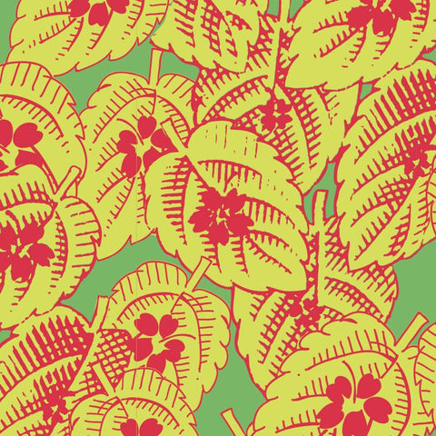 Retro Charm - Leaves - Lime - L01142-2