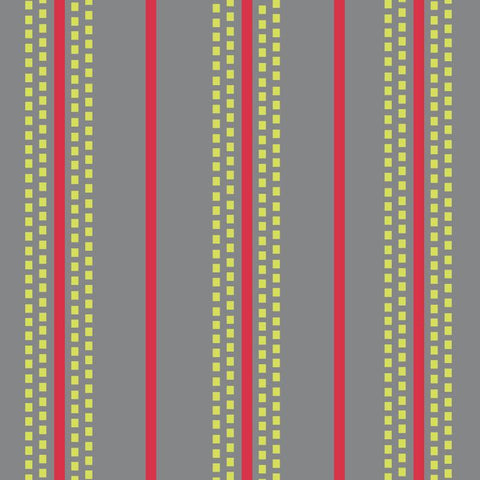 Retro Charm - Stitched Stripes - Grey - L01146-2