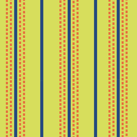 Retro Charm - Stitched Stripes - Lime - L01146-3