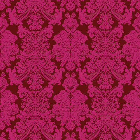 FB - Textures - Imperial Brocade - Red L01501-3