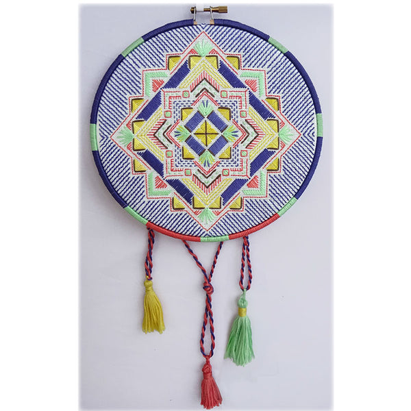 Free Project - Geometric Embroidery
