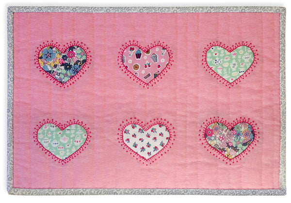"Free Project - Liberty ""Tea for Two"" Hearts Placemat"