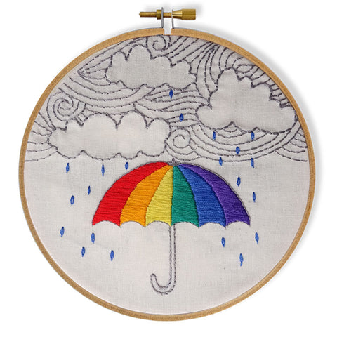 Free Project - Rainy Day Embroidery