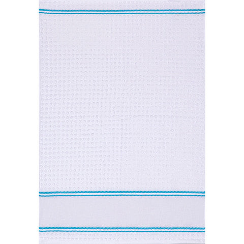 Q102 Kitchen Towel - Blue Trim - Clearance