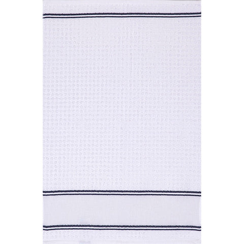 Q138 Kitchen Towel - Dk Blue Trim - Clearance