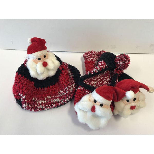 Free Project - Top This Santa Beanie & slippers