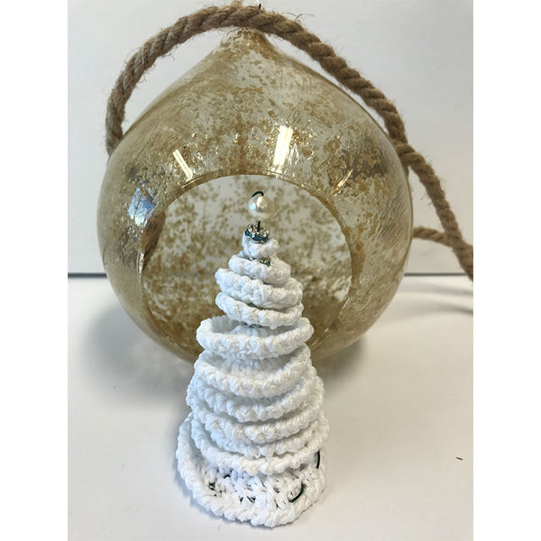 Free Project - White Christmas Tree Globe