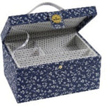 U1890 DMC Sewing Box  - Blue Floral Print
