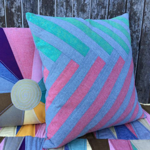 Free Project - Chambray Stripy Cushions