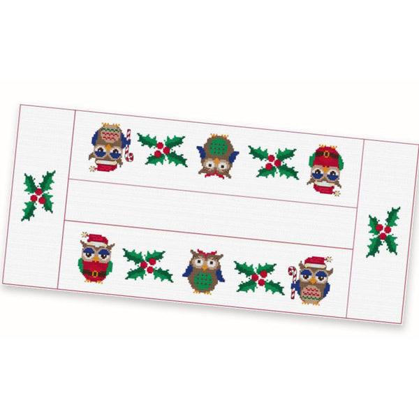 Free Project - Christmas Owls Table Runner