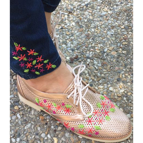 Free Project - Perle Floral Shoes & Jeans