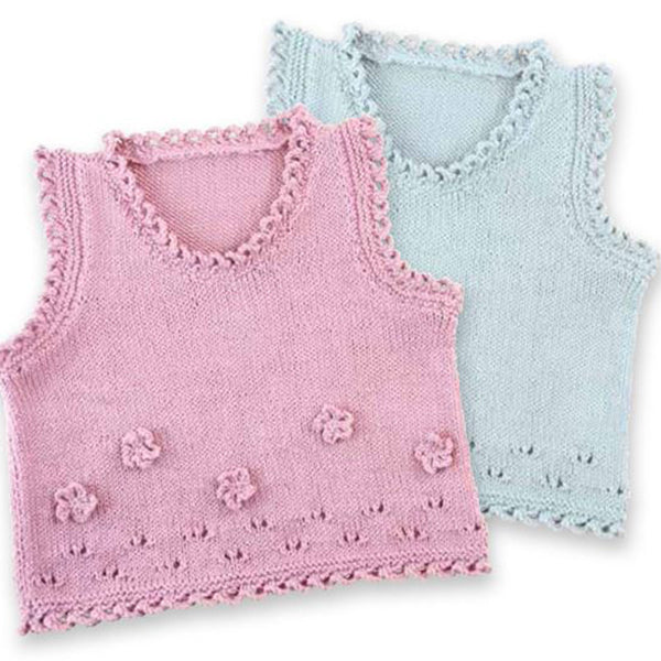 Free Project - Flower Baby Vest