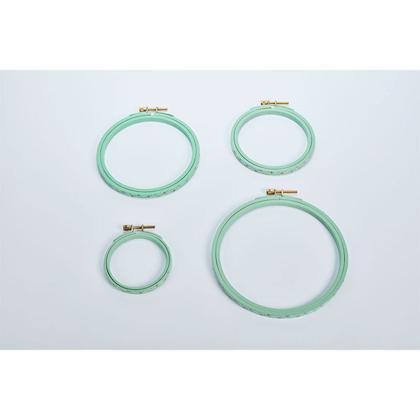 MP001/T155 DMC Hand Painted Embroidery Hoop-Turquoise