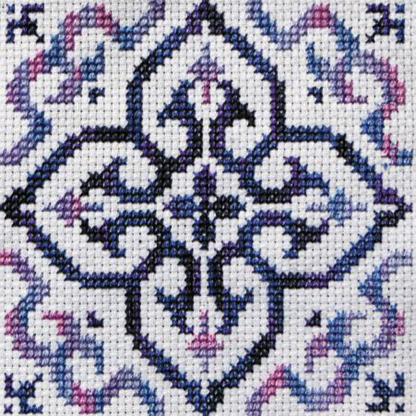 Free Project - Moroccan Tile Purple