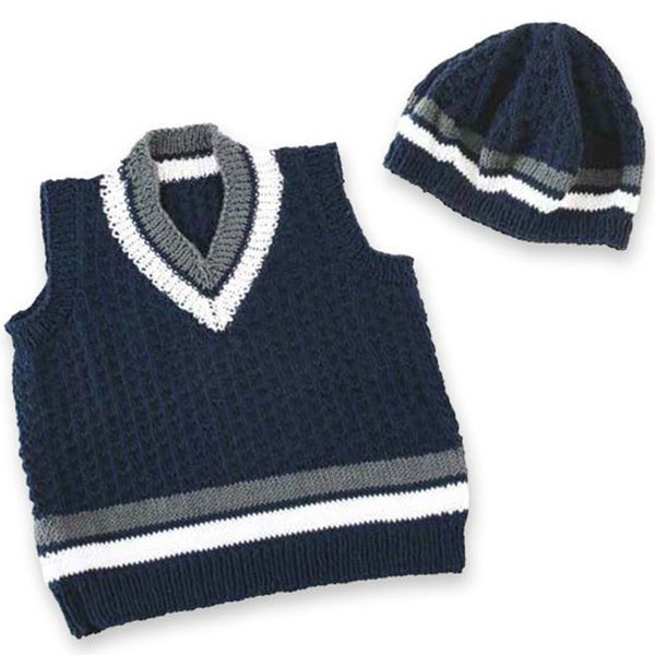 Free Project - Nautical Baby Vest & Beanie