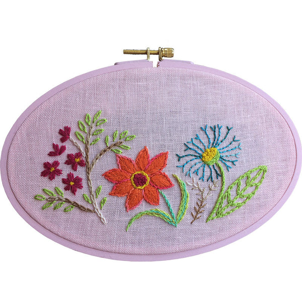 Free Project -  Spring Flowers Embroidery
