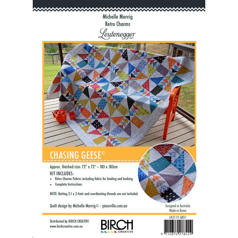 Quilt Kit - Retro Charms - Chasing Geese Quilt Kit