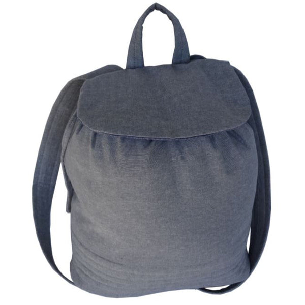 Free Project - Small Backpack, Cotton Chambray