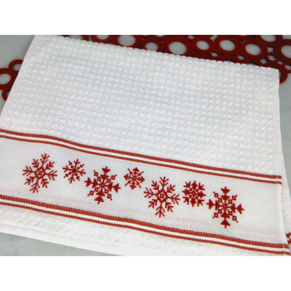 Free Project - Snowflakes Towel