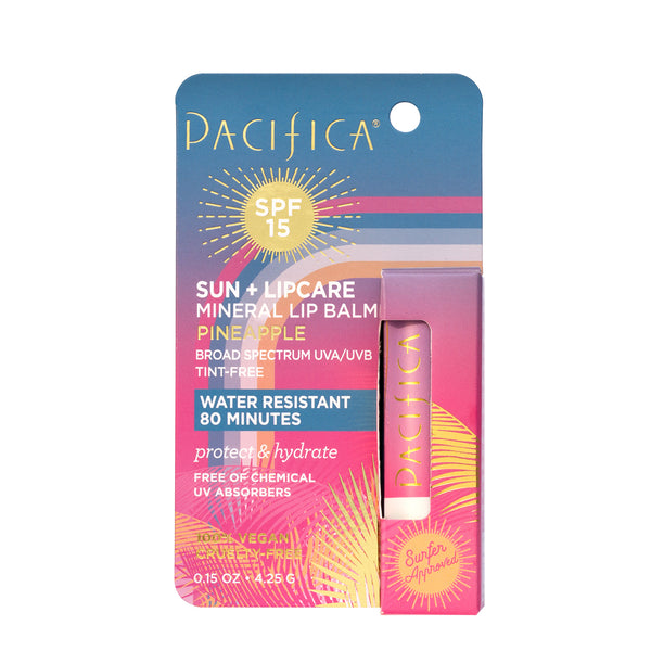 Pineapple Mineral Lip Balm SPF 15-Suncare-Pacifica Beauty