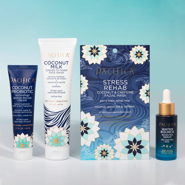Coconut De-Stressing Skincare Bundle - Bundles - Pacifica Beauty