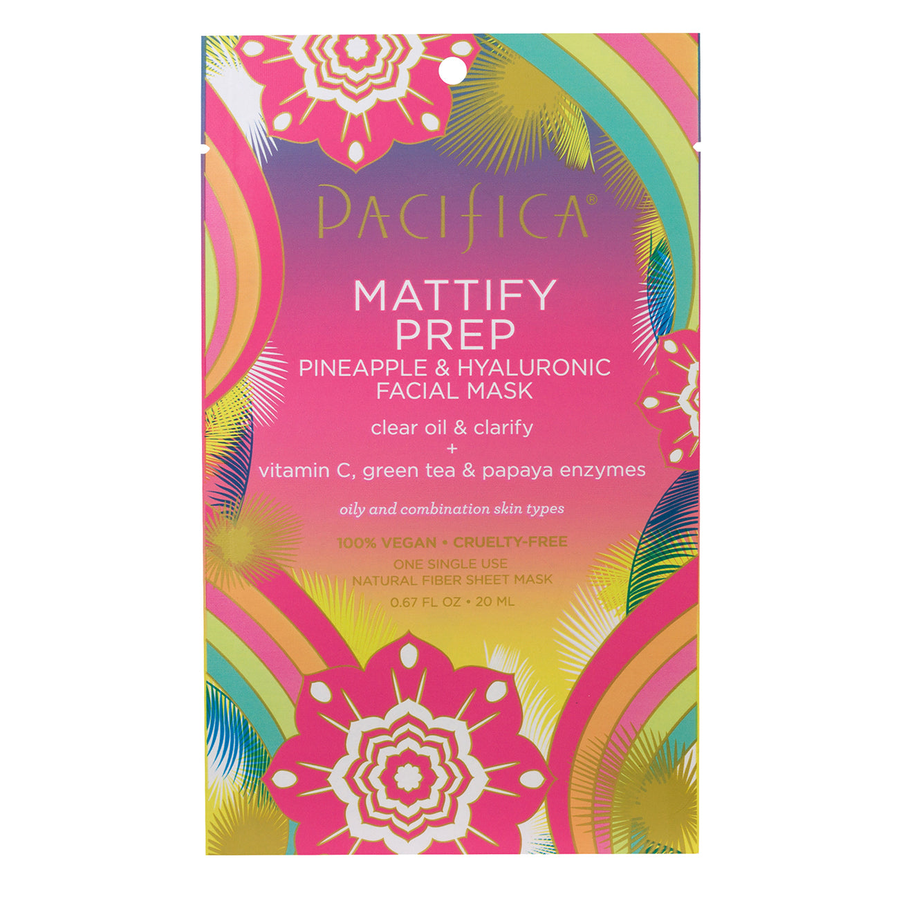 Mattify Prep Pineapple & Hyaluronic Facial Mask - Skin Care - Pacifica Beauty