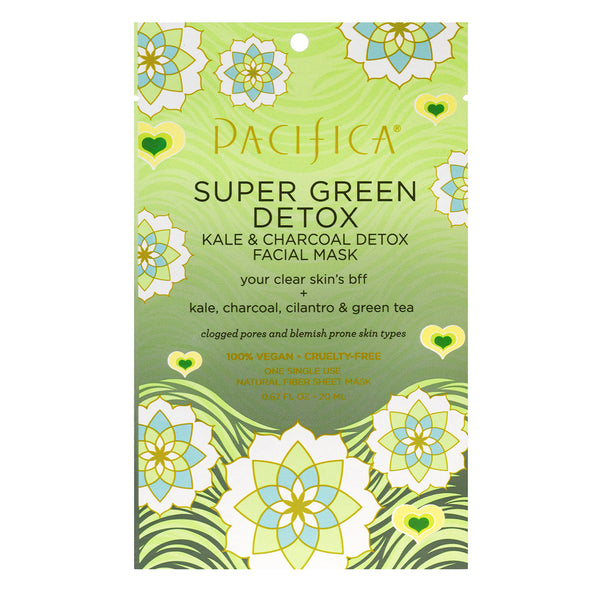 Super Green Detox Kale & Charcoal Detox Facial Mask-Skin Care-Pacifica Beauty