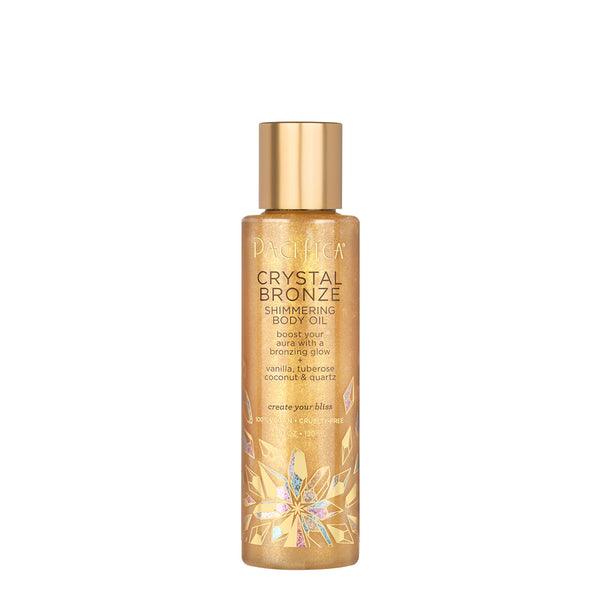 Crystal Bronze Shimmering Body Oil-Bath & Body-Pacifica Beauty
