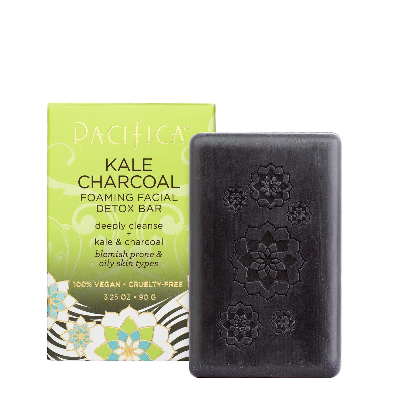 Kale Charcoal Foaming Facial Detox Bar - Skin Care - Pacifica Beauty