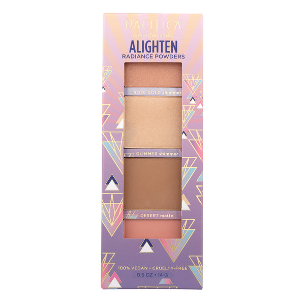 Alighten Natural Radiance Powders Palette-Makeup-Pacifica Beauty