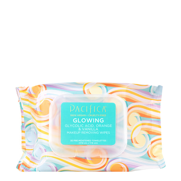 Glowing Glycolic Acid, Orange & Vanilla Makeup Removing Wipes-Skin Care-Pacifica Beauty