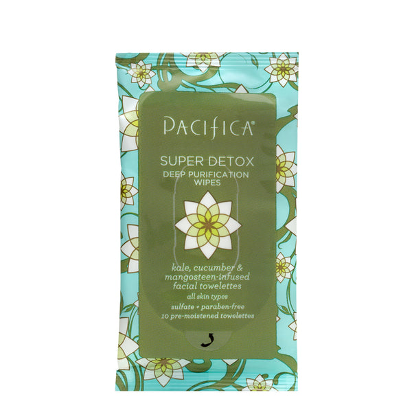Super Detox Deep Purification Wipes (10 ct)-Skin Care-Pacifica Beauty